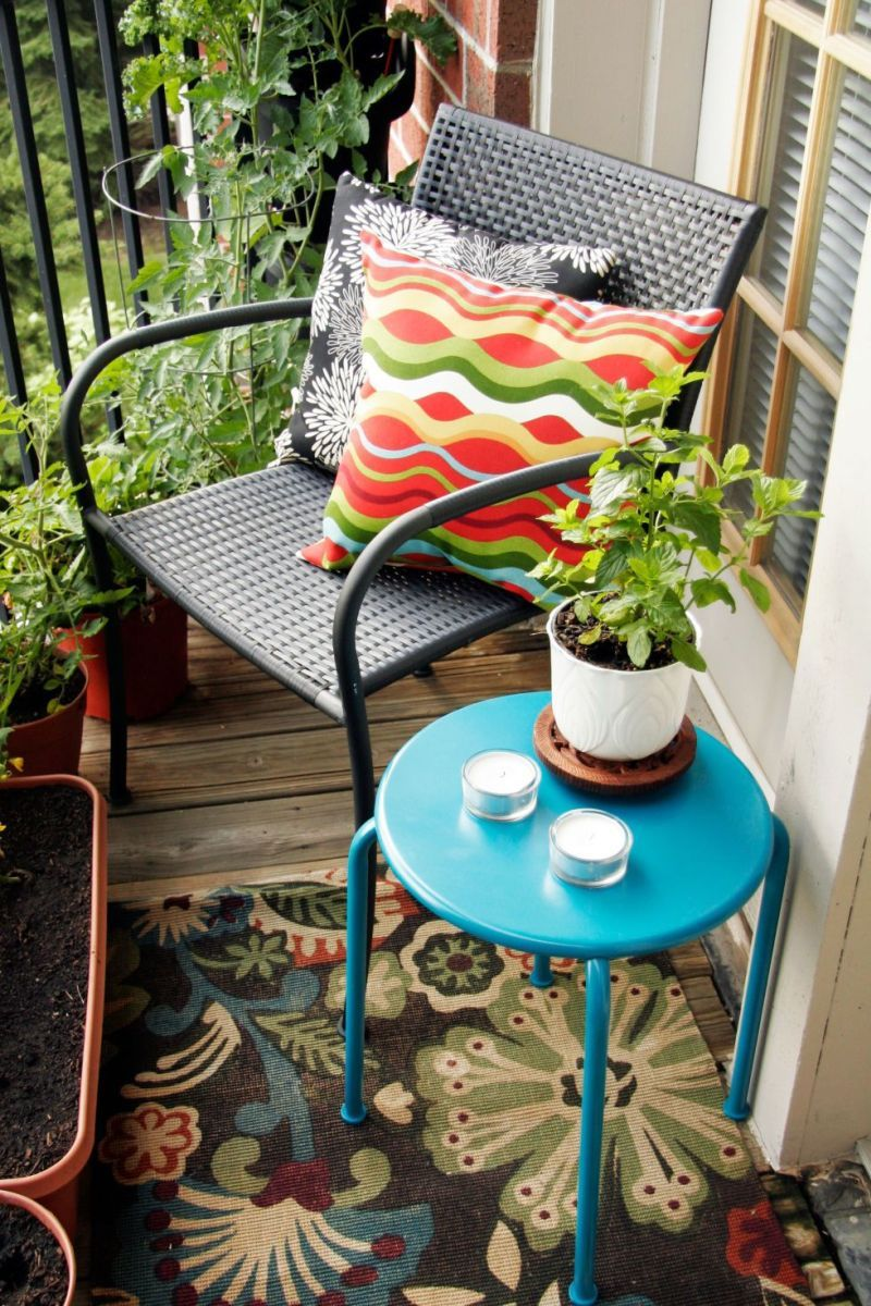 Bold furniture for balcony