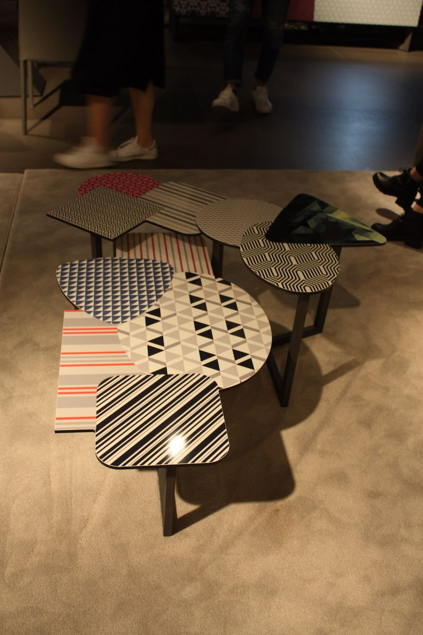 This Collage Of Coffee Tables By Bonaldo Is A An Explosion Prints Colors And