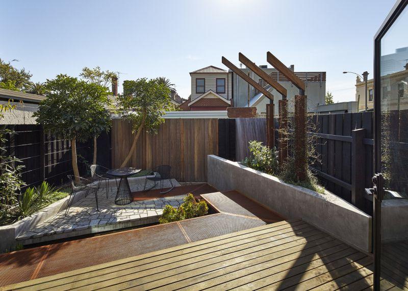 Bower House backyard