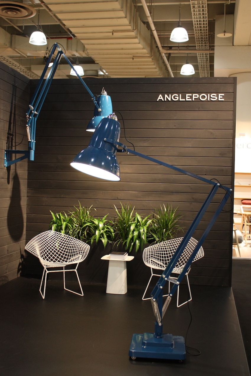 There's something so silly about a giant desk light like this - but we love it. The British company Anglepoise has taken a really functional lamp and made it work on a large scale. It's just plain fun. And it comes in pink too.
