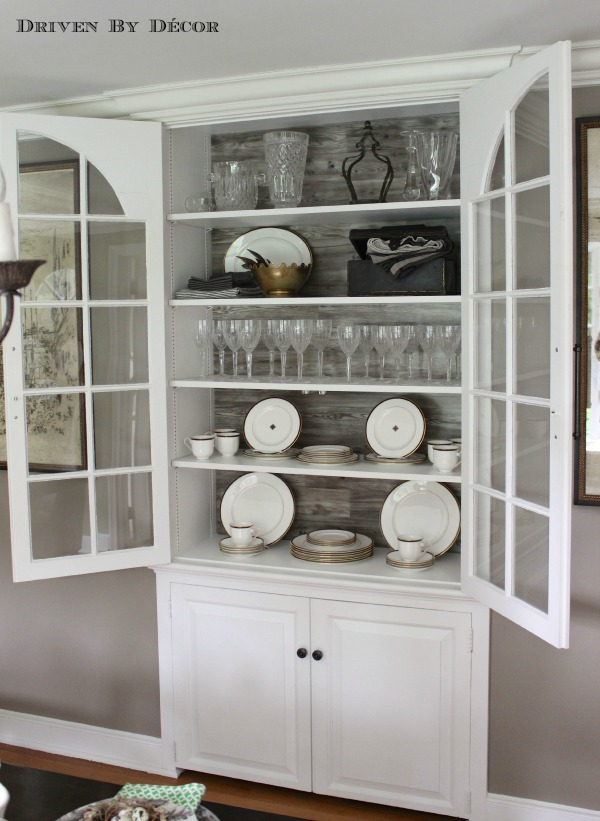 Build Your China Cabinet Into The Wall