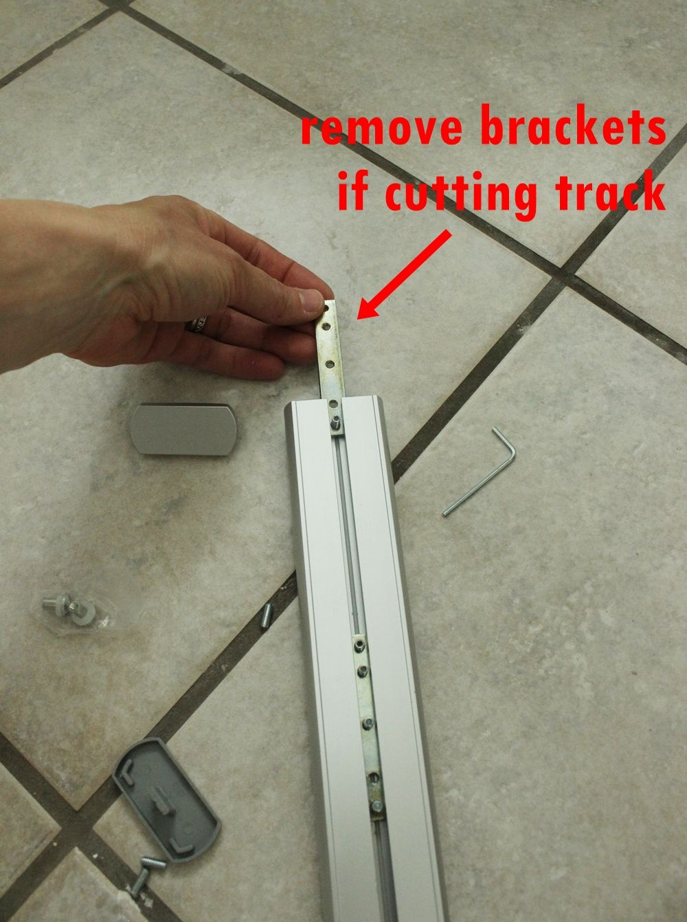 Ceiling Mount Shower Curtain-remove the brackets