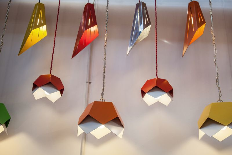 Charles Lethaby hanging colorful lighting