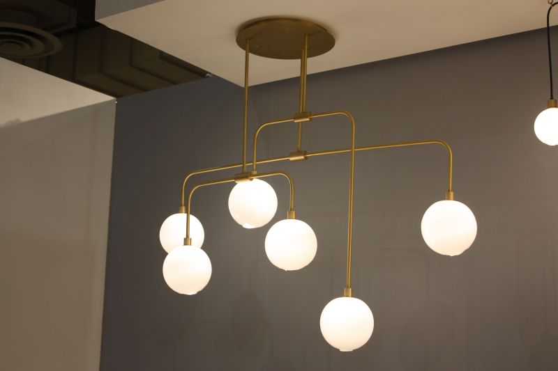 Clean lines for brass lighting fixtures