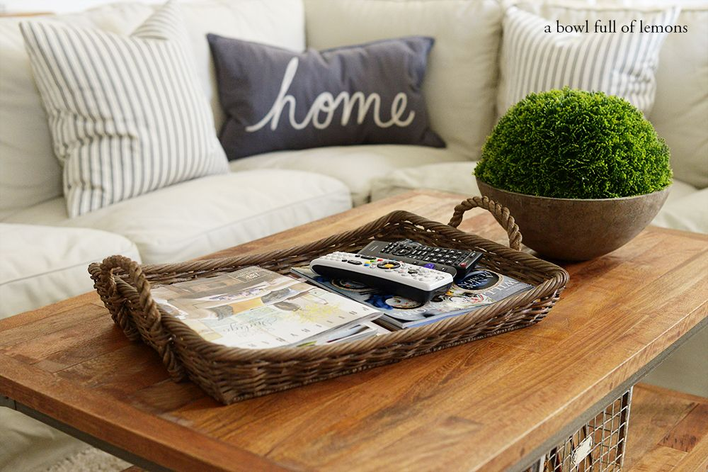 Coffee table tray for tv Remote and magazine