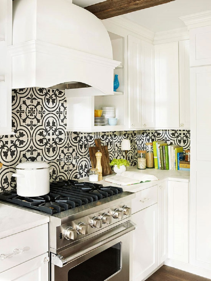 Awesome Fun Backsplash Ideas Part - 1: Contrast Backsplash