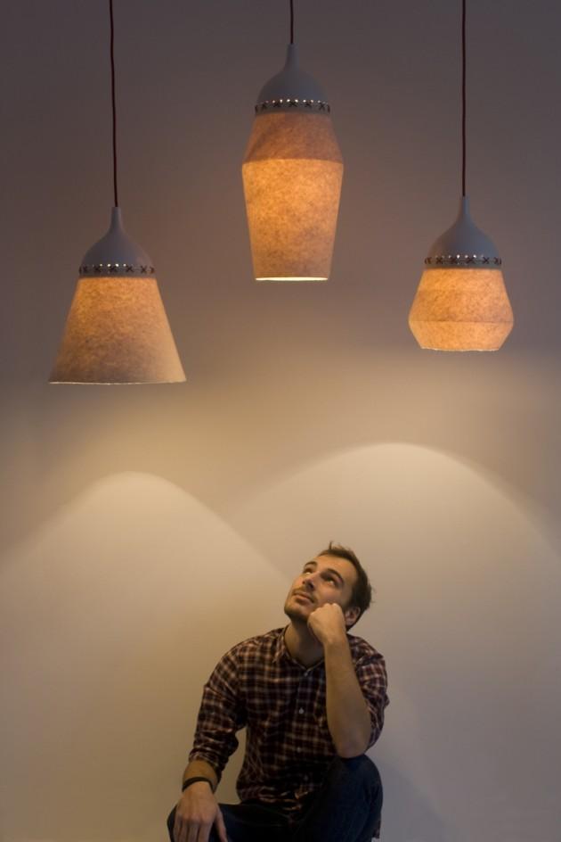 Cool felt lamps