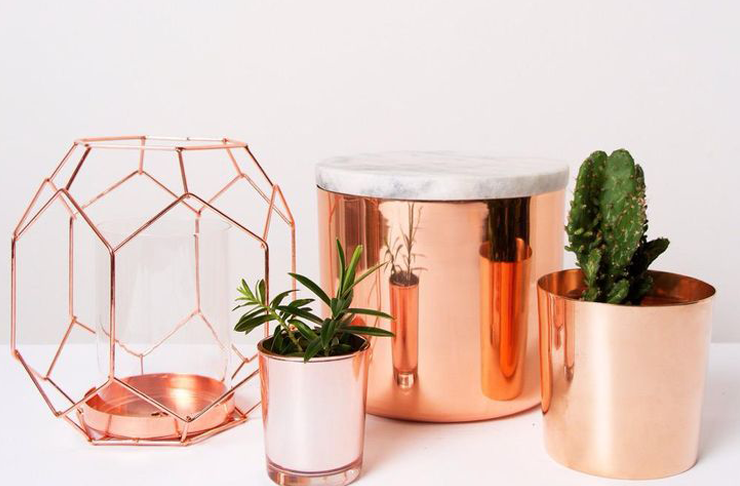 Copper home decor accessories