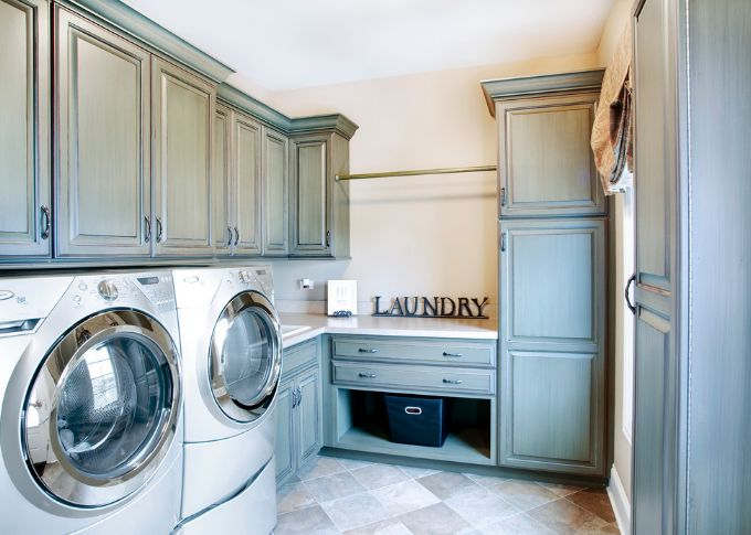 Cozy laundry room design