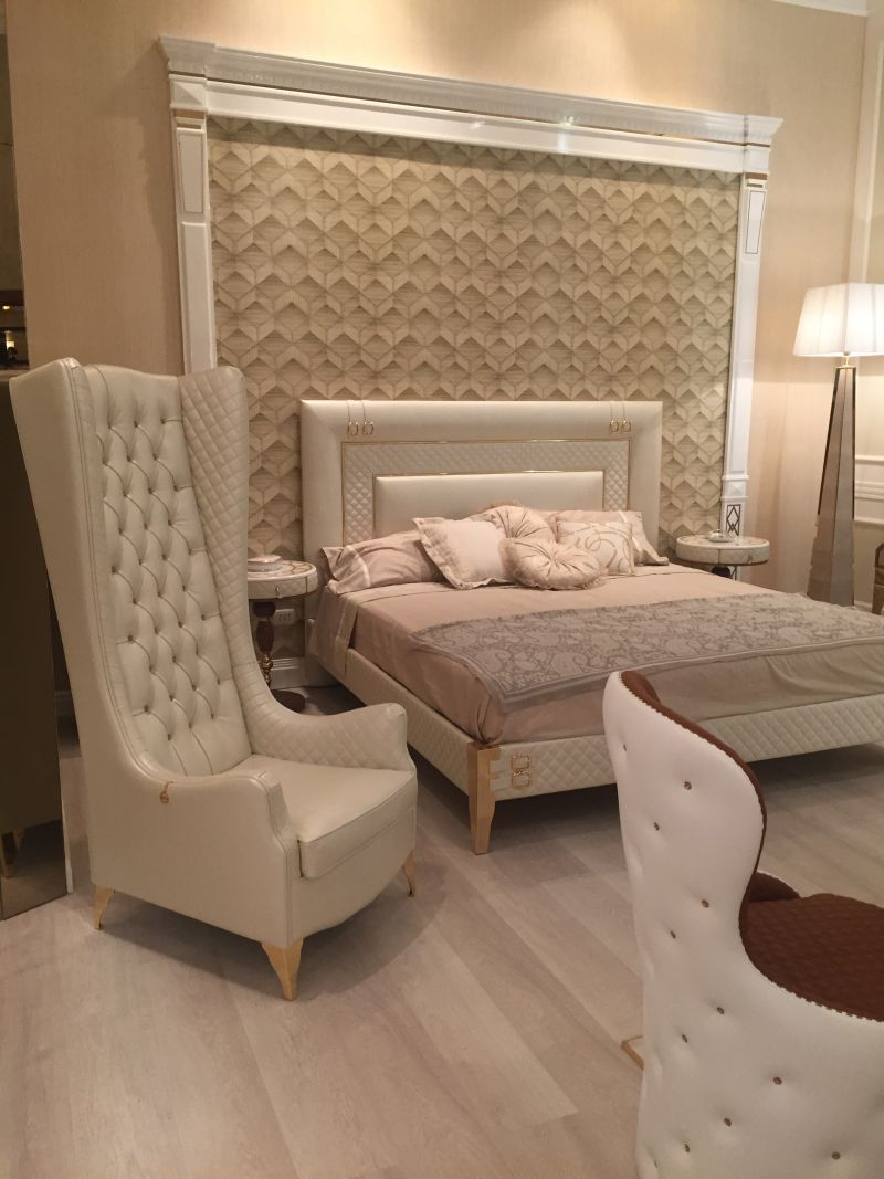 Cream bedroom with a lux feel