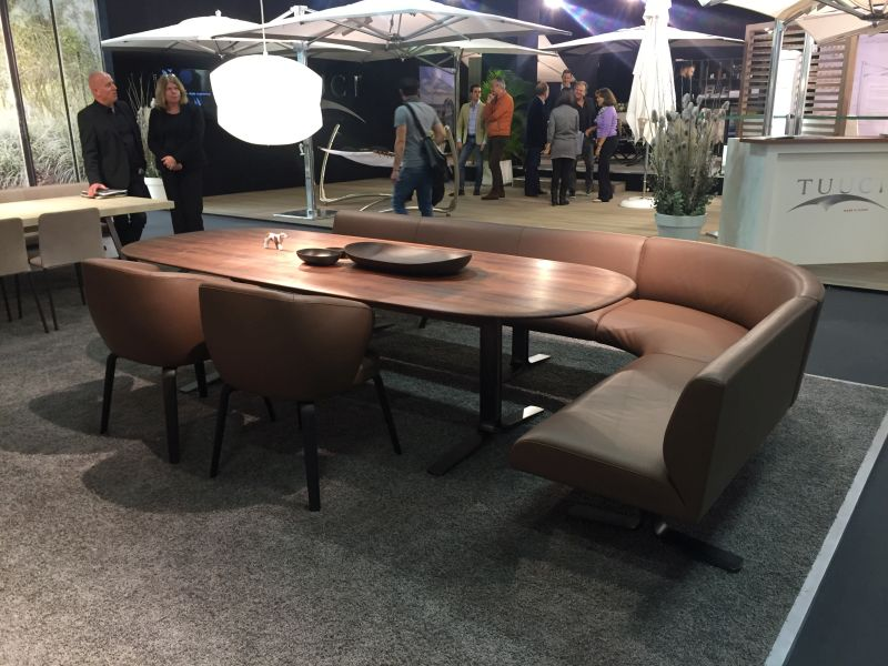 Curved Bench Around Dining Table