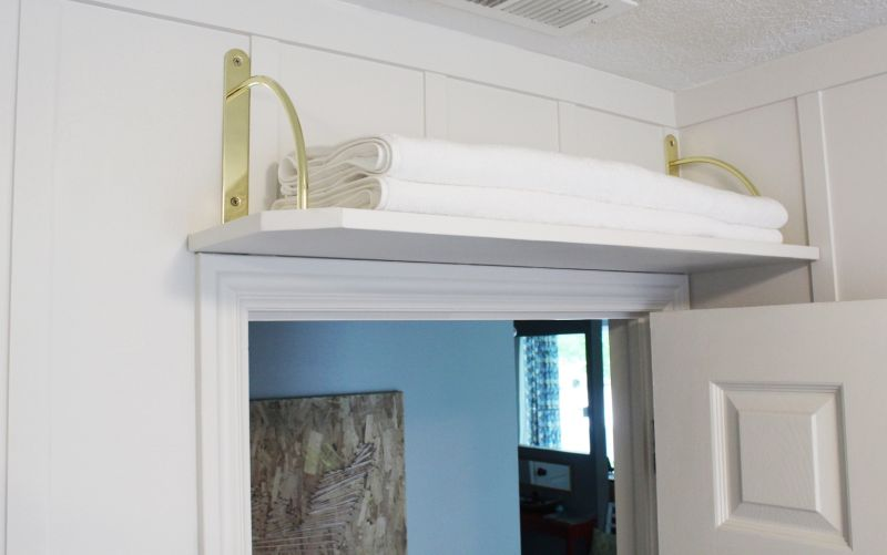 Ordinaire DIY Above Door Shelf Project