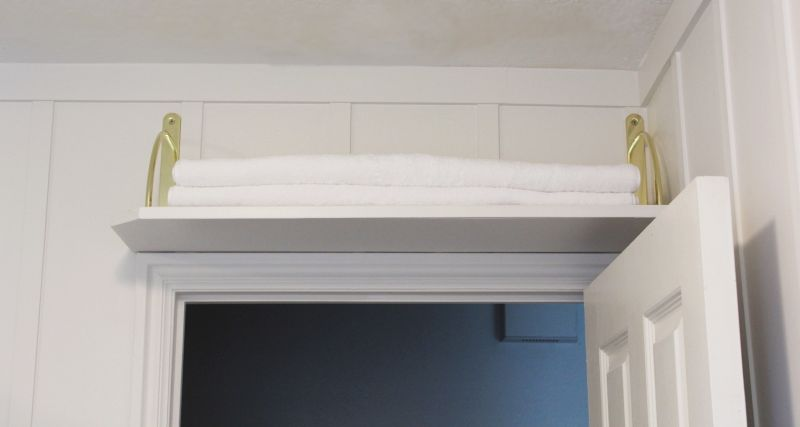 DIY Above Door Shelf - wonderful use