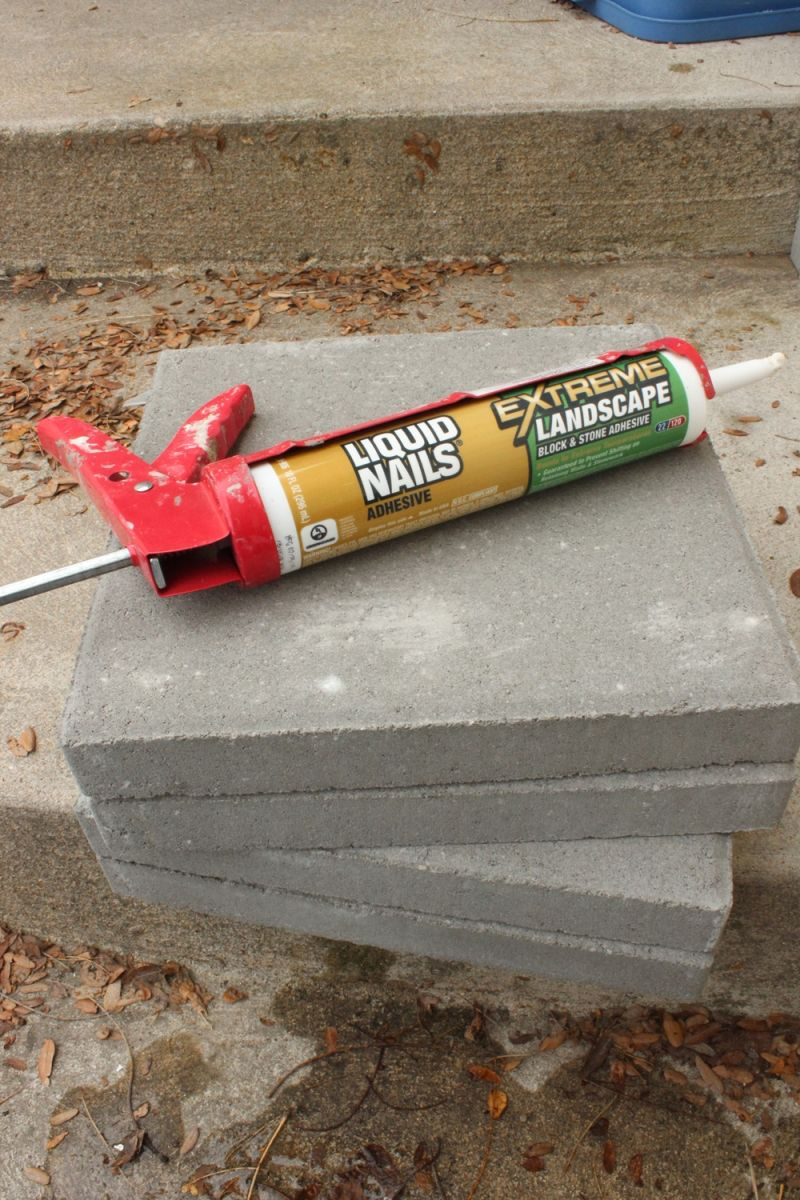 DIY Concrete Planters-adhesive stick
