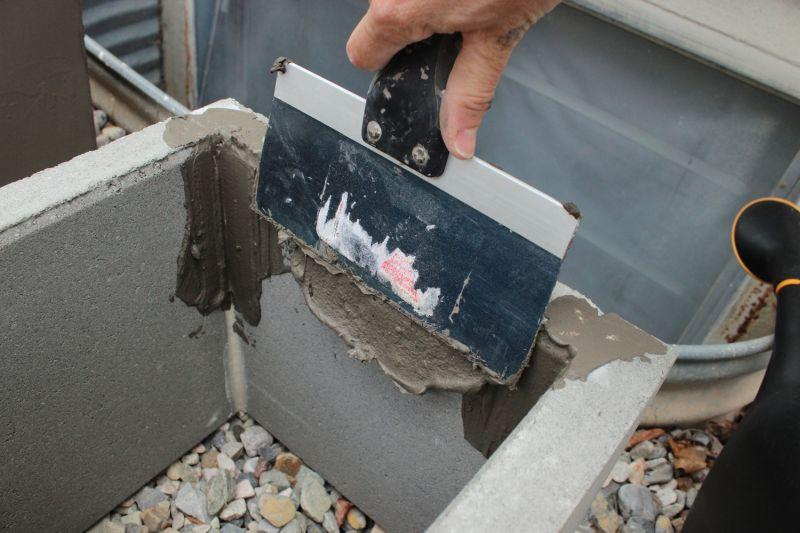 DIY Concrete Planters-apply the inside