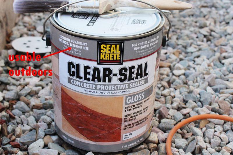 DIY Concrete Planters-clear paint