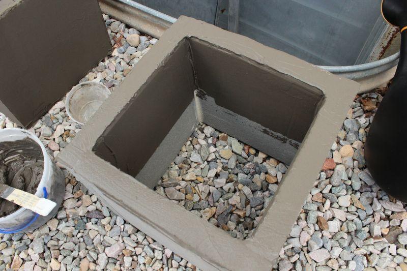DIY Concrete Planters-inside