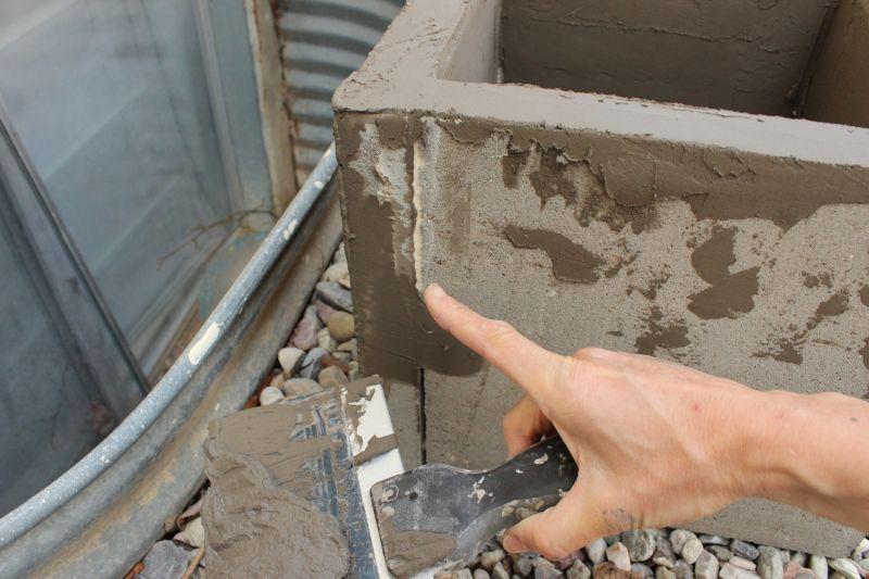 DIY Concrete Planters-outside