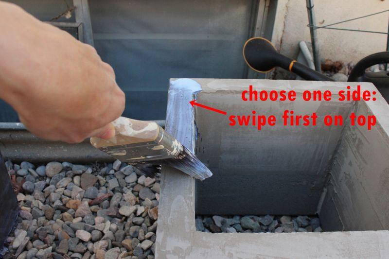 DIY Concrete Planters-sealing