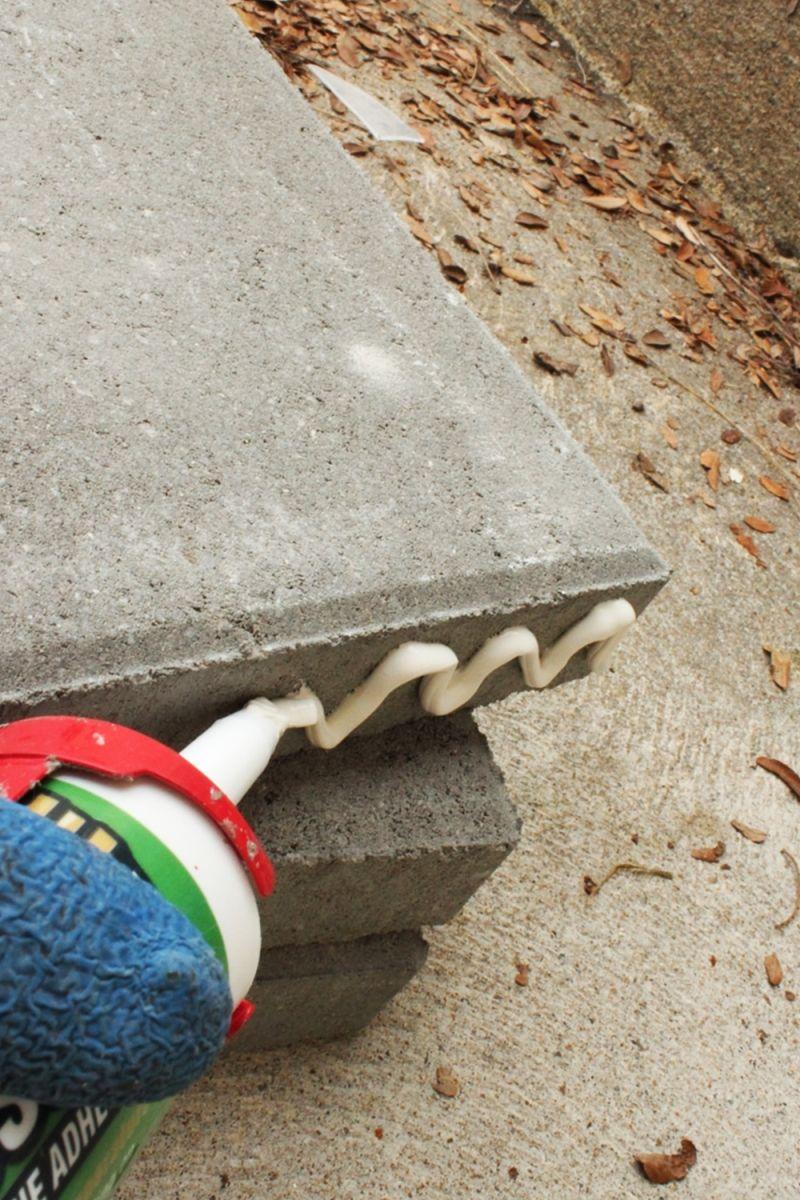DIY Concrete Planters- view