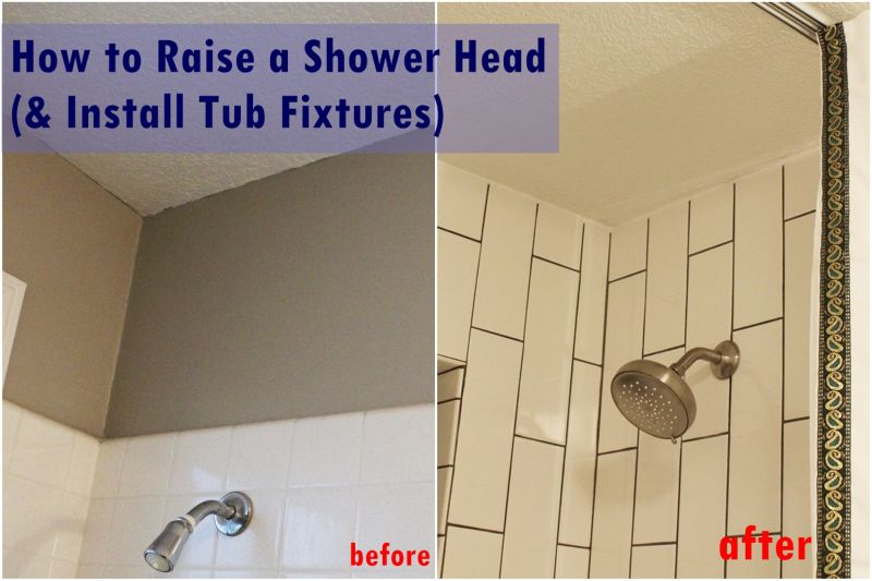 DIY Raise-Install Shower Fixtures Tutorial