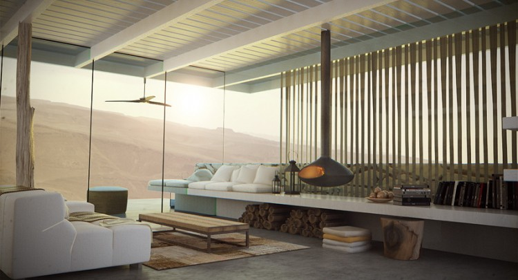 Desert Villa by Studio Aiko living room