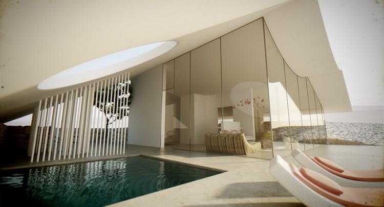 Desert Villa by Studio Aiko pool