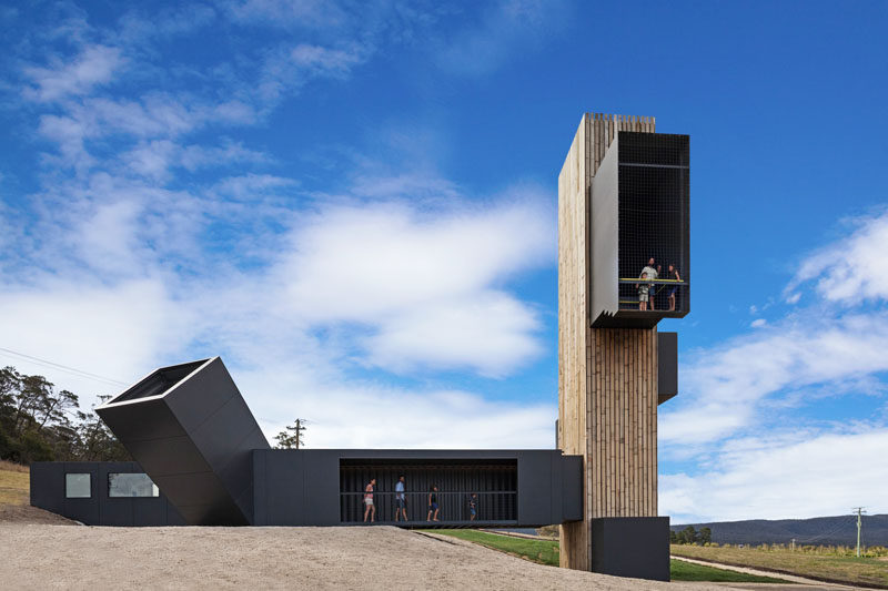 Stunning Lookout Tower Built Of Shipping Containers