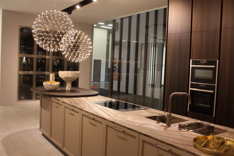 The Kitchen Island Lighting In Doimou0027s Elegant Kitchen Setting Is  Definitely The Focal Point Of The