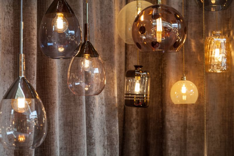 EBB & FLOW designs glass hanging lights