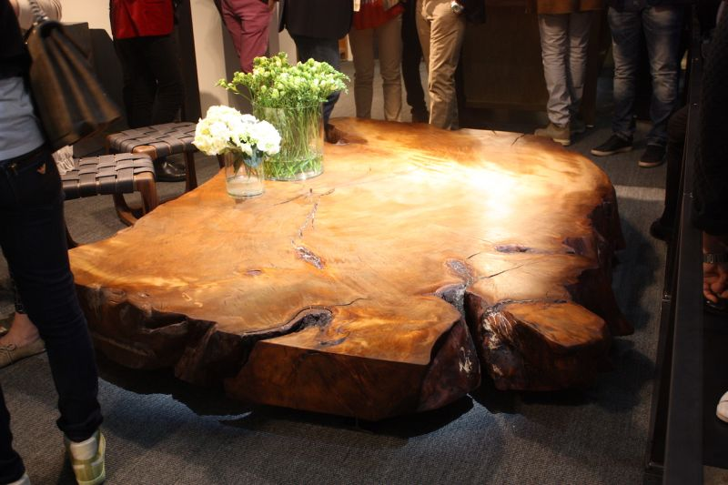 Riva 1920's live edge slab coffee table table is a stunning statement for any living room, from traditional to contemporary.
