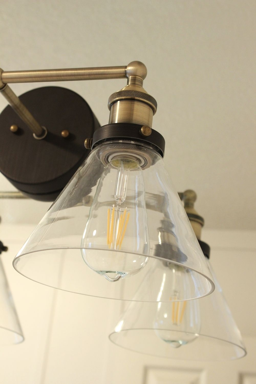 Edison light bulbs for bathroom