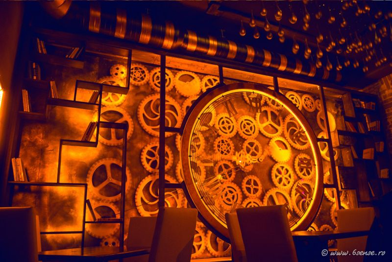 Enigma Cafe and Bar clock design