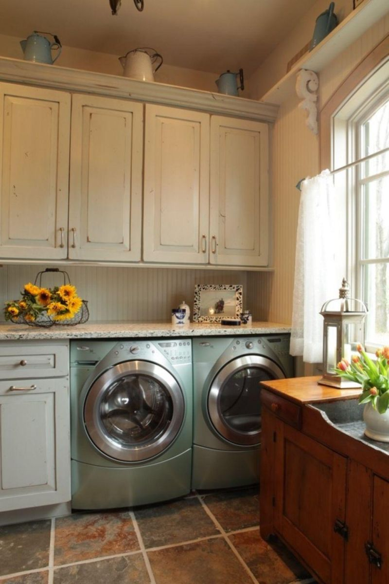 Farmhouse inspired laundry room