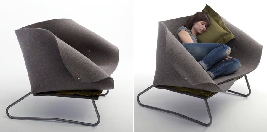 Felt chair design. Stylish Furniture and Accessories That Give Felt a Trendy Look