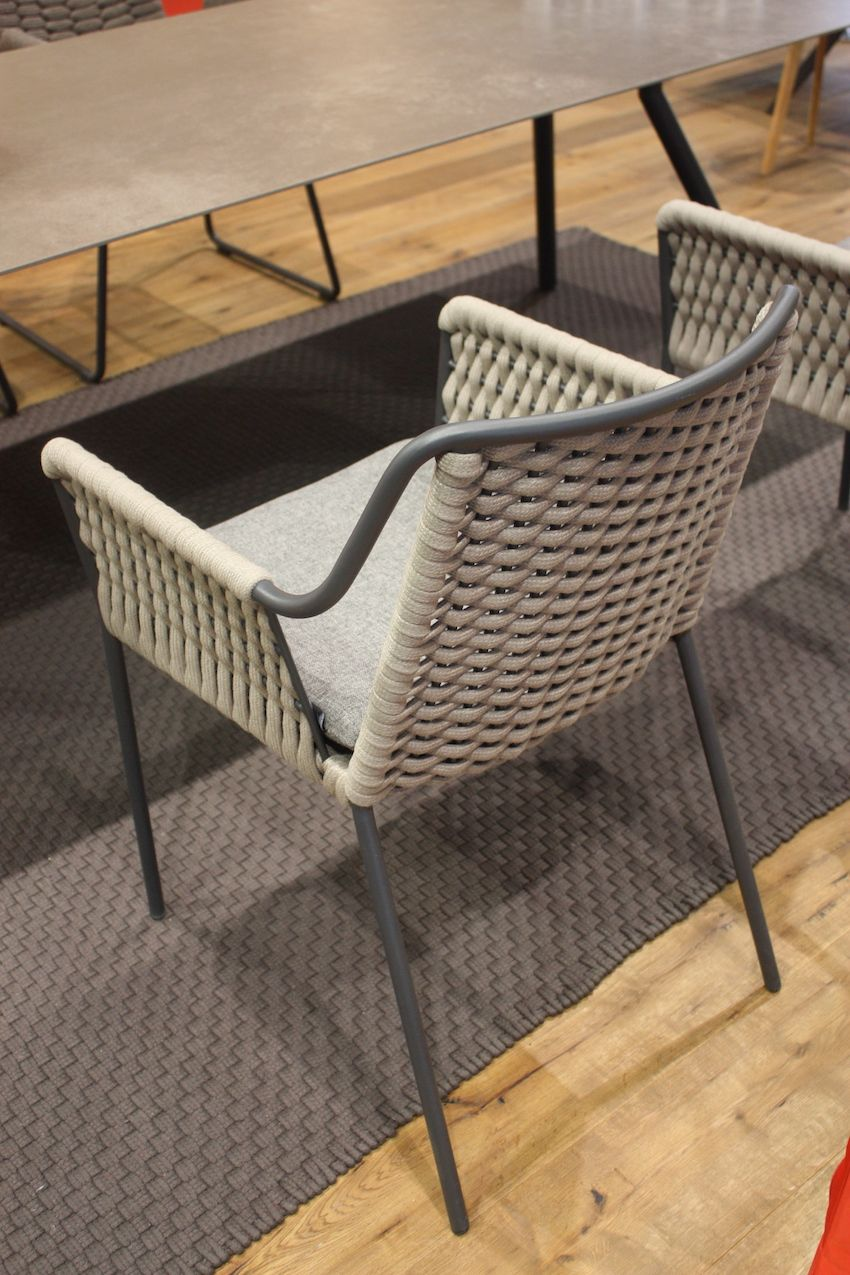 Here's a closers look at the precision of the weaving in this chair.