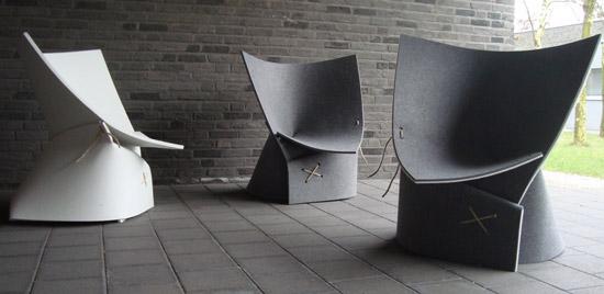 Fox and freeze felt chair