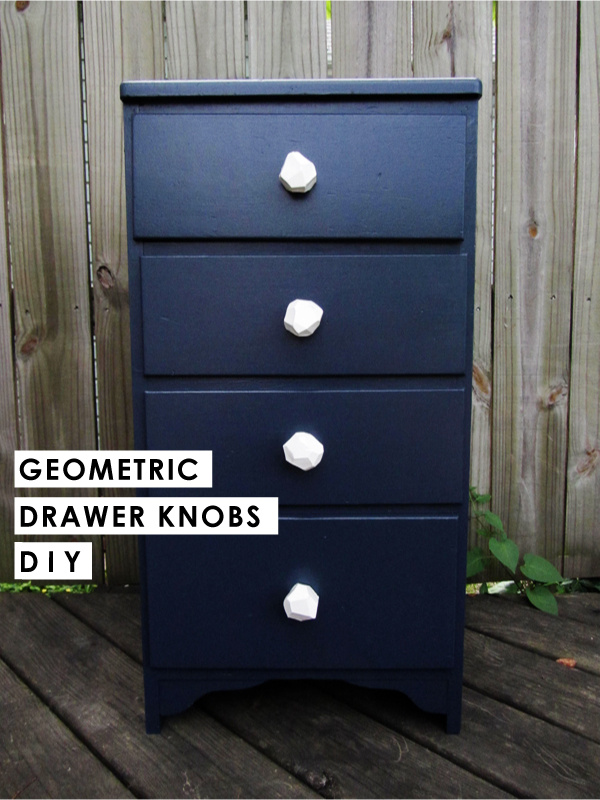 Geometric drawer knobs
