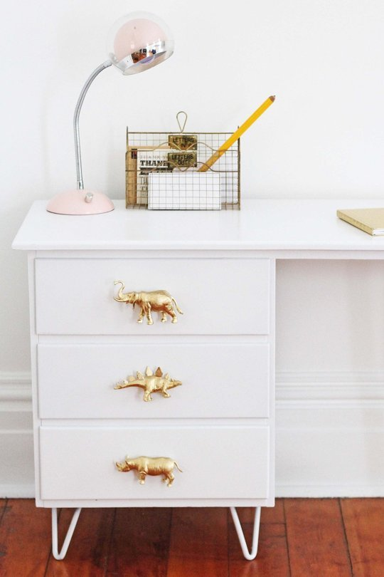 Gold animal drawer knobs