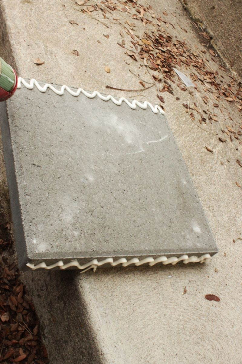 Grab your fourth concrete paver