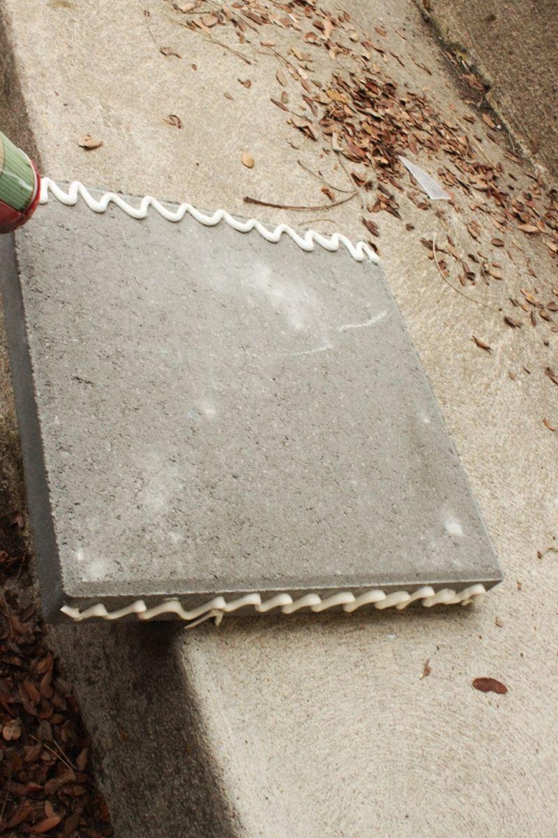 Grab your fourth concrete paver