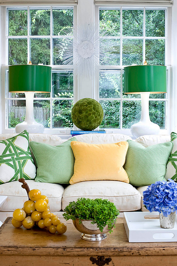 Good Green Grass Living Room Decor Design