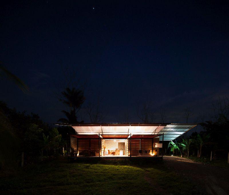 House V at night