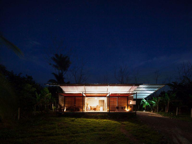 House V decks at night