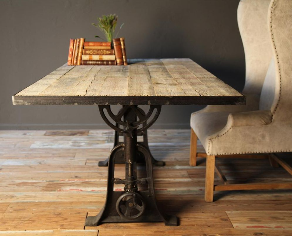 Industrial loft table desk