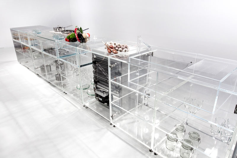 see through furniture. infinity kitchen see-through interior see through furniture