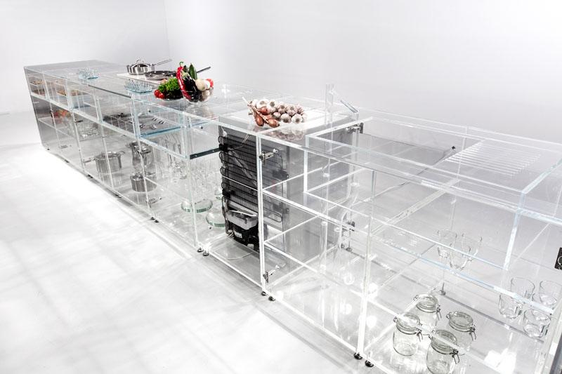 Infinity Kitchen see-through interior