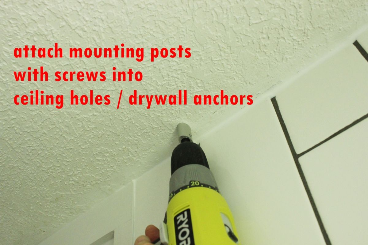 Install a ceiling mount bracket
