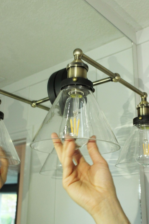 Install the lighting bulbs
