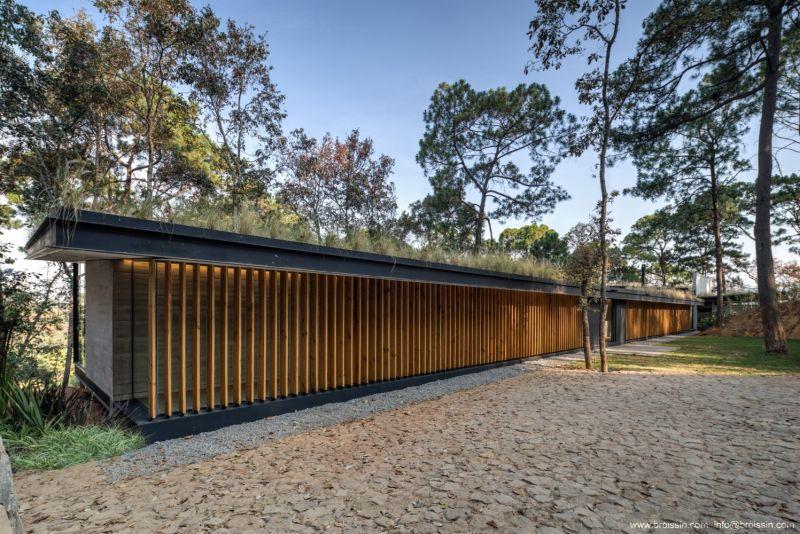 Irekua Anatani House facade with wood panels